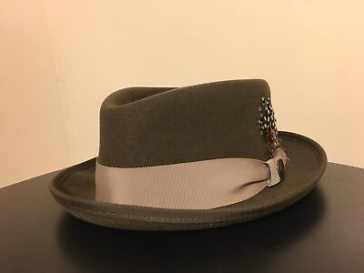 GOORIN BROS. 100% Wool Brown Feather Cap Hat hat1 Fedora Dressy - Men s  Large cf542479304a