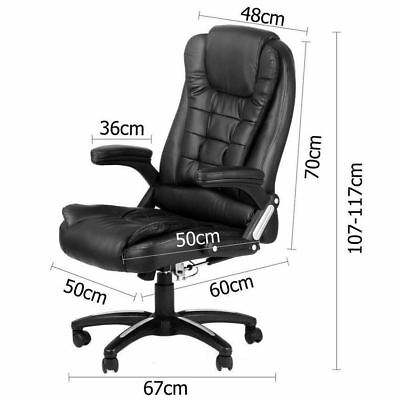 Adjustable High-Back 8 Point Massage PU Leather Executive Computer Office Chair