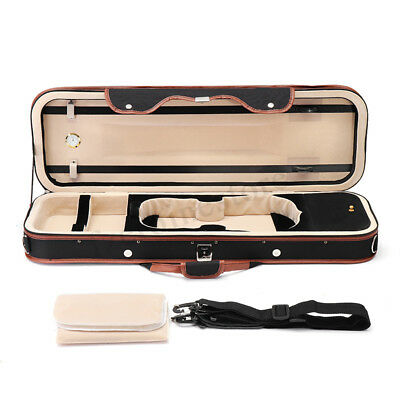 4/4 Waterproof Portable Violin Case Box With Humidity Table Straps Locks Storage