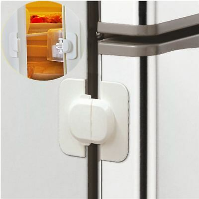 2xSTRONG Fridge Freezer Lock Latch Child Proof Safety Babyproofing Baby Toddler