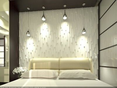 *DROPS* 3D Decorative Wall Stone Panels. ABS Form Plastic mold for Plaster