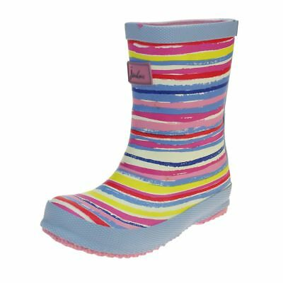 Joules Rainbow Welly Girls Multi Wellington Boot size uk kids children