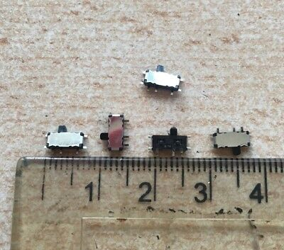 Miniature SMT Slide Switch SPDT Latching 300 mA Model Railway Hobby  1/5/10  Z17