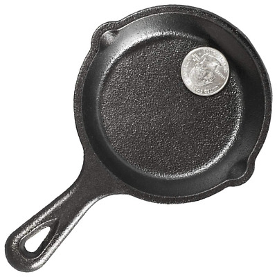 Cast Iron Skillet For Eggs Camping Cooking Frying Small Mini LODGE Seasoning Pan