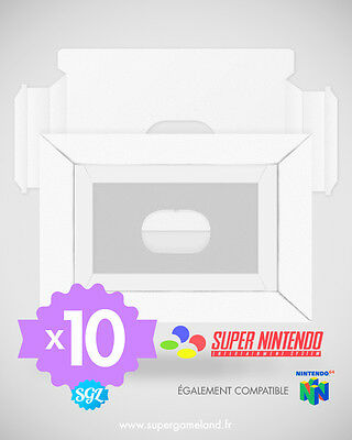 Lot De 10 Cales Neuves Pour Boites Super Nintendo Snes