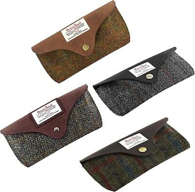 Genuine Boxed Harris Tweed and Leather Glasses Case (Four Designs) #910