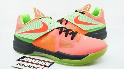 61ccabf39637 Nike Kd Iv Nike Id Used Size 13.5 Kevin Durant Pink Green Black 532272 992