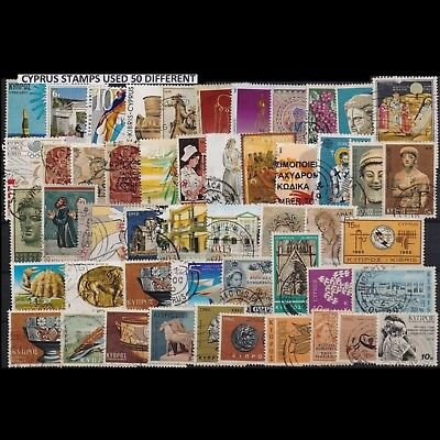 Cyprus Collection Of 50 Different Used Stamps. Combined Shipping