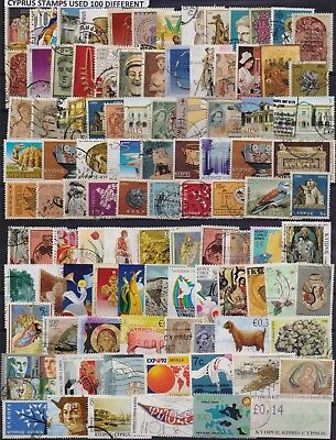 Cyprus Collection Of 100 Different Used Stamps. Combined Shipping