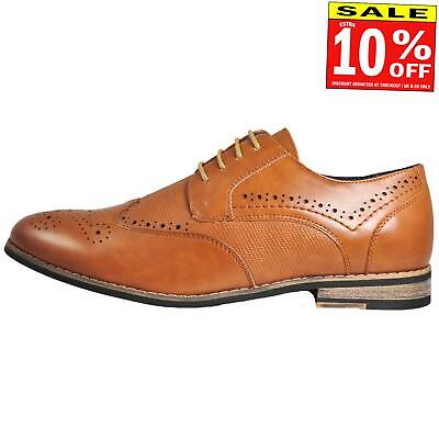 Bruno Marc New York Mens Vintage Leather Lined Brogues BIG SIZES