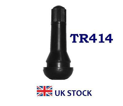 10 x TR-414 Rubber Snap-in Tubeless Tyre Valve