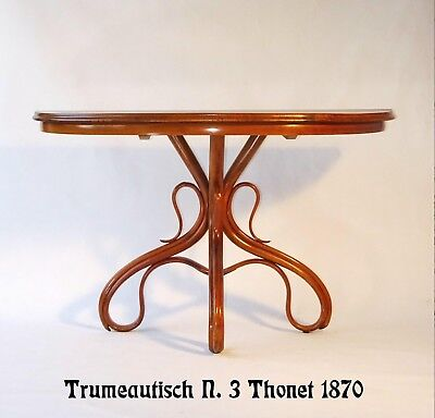 Table console THONET N°3 vers 1870 TRUMEAUTISCH N°3  Noyer- nusshell -