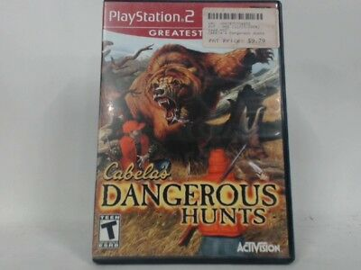 CABELA'S DANGEROUS HUNTS Playstation 2 PS2 Complete in Box w/ Manual CIB Accepta