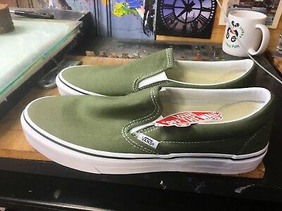 1dc07cabfe4f Vans Classic Slip-On Winter Moss True White Size US 11 Men s VN0A38F7OW2