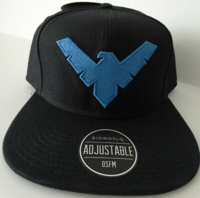 quality design a2ddd 21e0e Nightwing Batman Logo Dc Comics Snap Back Hat Nwt
