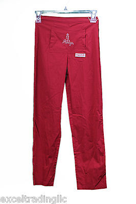 JACADI Girl's Leto Red Straight Leg Pants w/ Front Pocket Size 10 Years NWT