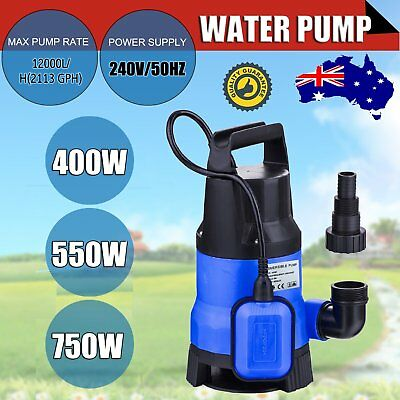 400/550/750W SUBMERSIBLE DIRTY Water Pump Sump Flooding Pond