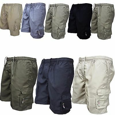 Mens Summer Multi Pocket Shorts Work Casual Military Combat Cargo Short Pants AU