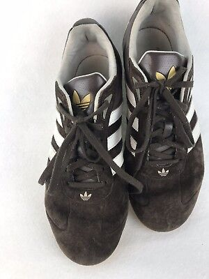 reputable site 28c4b fba32 RARE Team Adidas Goodyear Racing Driving Shoes Mens Size 8 Brown Suede  Vintage
