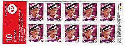 Canada Stamps - Booklet Pane of 10 - Queen Elizabeth II #2188a (BK340A) - MNH