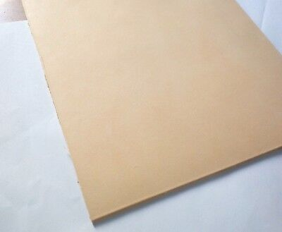 "8"" X 12"" VEG TAN - A4 VEG TANNED CRAFT LEATHER HIDE PIECES - 1, 2, 3, 4mm Thick"