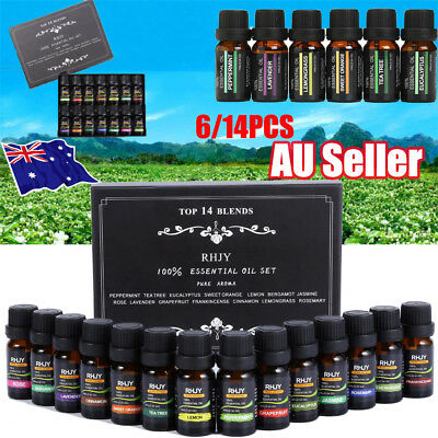 Essential Oils Set of 6/14 -100% Pure Natural Plant Aromatherapy Kit 10ml Gift !