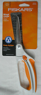 Fiskars 9911 Spring Action Mixed Media Scissors With Safety Lock, Latest Model
