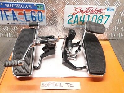 Harley supporti comandi a pedale completi x Softail Fat Boy - Heritage