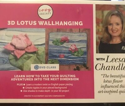 3D Lotus Wallhanging With Leesa Chandler Cosy Projects