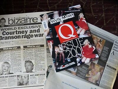 Q Mag March 2003 Hole Courtney Love's Naked Rampage! Newspaper Clips Issue 200!