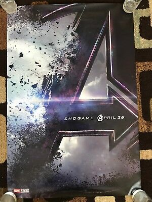 Avengers Endgame Original Movie Poster 27X40 Double Sided U.S. Advance 2019 NM!