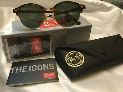3ea0fcd8a1d8e Ray-Ban Clubround Rb 4246 990 51-19 Green tortoise