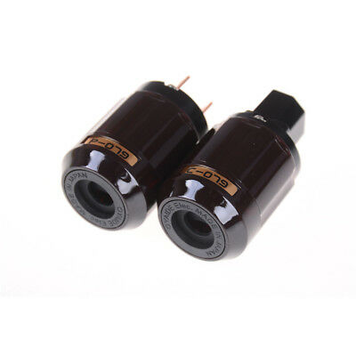 Gold Plated C-079 IEC Female P-079 Male US Power plug Audio Connector Hifi F AL