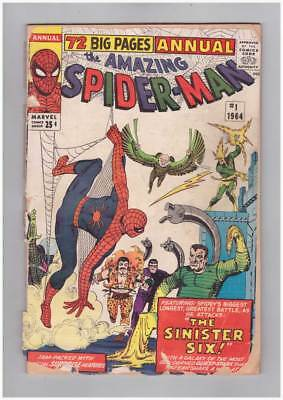 Amazing Spider-Man Annual # 1  Sinister Six grade 1.5 scarce book !