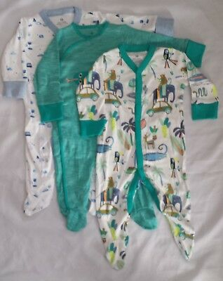 Next Baby Boys 3 Pack Sleepsuits 3-6 / 6-9 / 9-12 Months New