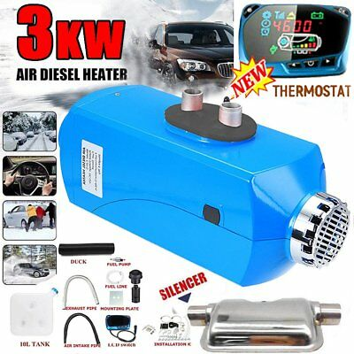 3KW 12V LCD Air Diesel Heater Upgrade Thermostat For Trucks Motor-home Boat CC@