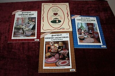 4 Braided Rug Braided Crafts Book Lot Piecemaker's Shirley Botsford