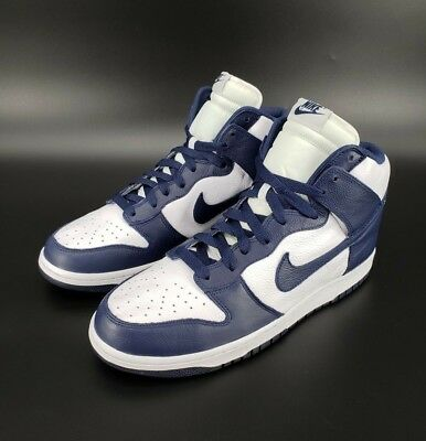info for d1462 06c8b NIKE Dunk Retro QS High VILLANOVA Midnight Navy Blue White 850477-103 SIZE  13