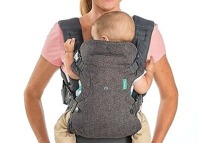 Infantino Flip 4 in 1 Convertible Baby Carrier Grey New