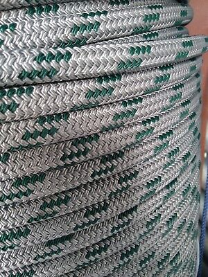 Double Braid Polyester Halyard control sheet line 5//16x200 feet gold winch rope