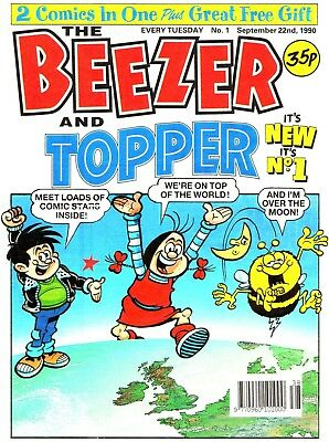 UK COMICS BEEZER AND TOPPER COMPLETE DITIGAL COLLECTION OF 1990s HUMOUR ON DVD