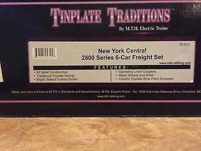 MTH/Lionel Tinplate O gauge 2800 series New York Central 6-car set 10-3010
