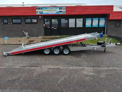 TEMARED CARKEEPER FLATBED CAR TRANSPORTER TRAILER RECOVERY 16FT x 6FT 3500kg