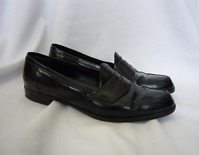 d6337fc757e PRADA SHOES WOMENS Black Patent Leather Penny Loafers Size 11 41 ...