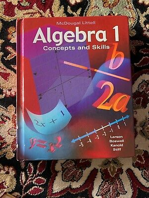 MCDOUGAL LITTELL ALGEBRA 1 Concepts And Skills Worked Out