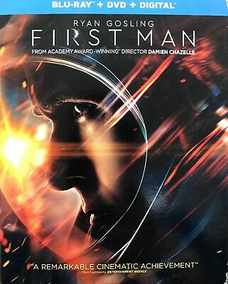 First Man (2019) Blu-Ray+DVD+Digital , New Sealed With Slip Cover