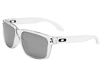 Oakley Holbrook Sunglasses OO9244-06 Polished Clear/Chrome Iridium Asian