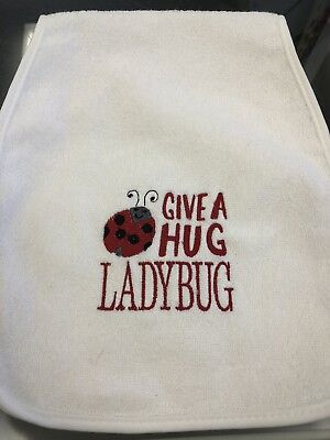 Brand New embroidered bib and burpcloth set-personalized with 1st name