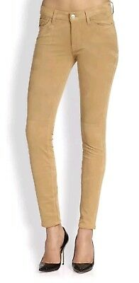 7 FOR ALL MANKIND The Sueded Skinny Women Jeans Sz 23 Tan Stretch USA NWT $198