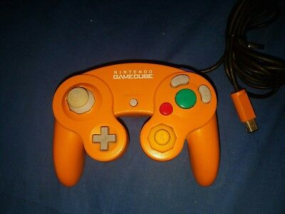 Official OEM Nintendo GameCube Controller Original Orange Clean and Tested